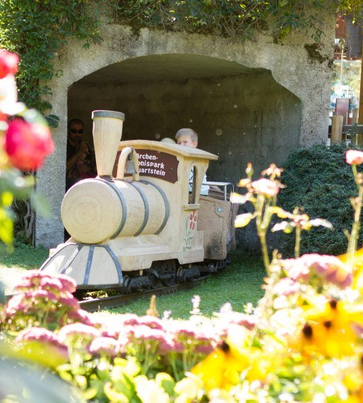 The small park railway invites you to a leisurely drive